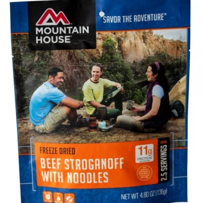 Backpacking Food - Mountain House Beef Stroganoff with Noodles for 2