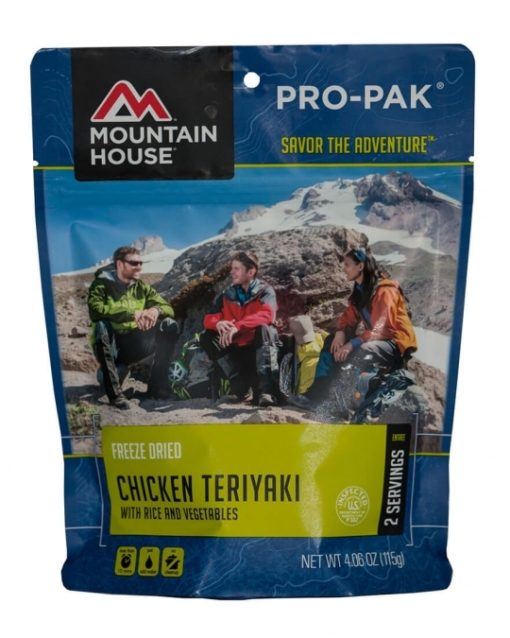 Backpacking Food - Mountain House Chicken Teriyaki with Rice for 2