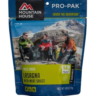 Backpacking Food - Mountain House Lasagna with Meat Sauce for 2