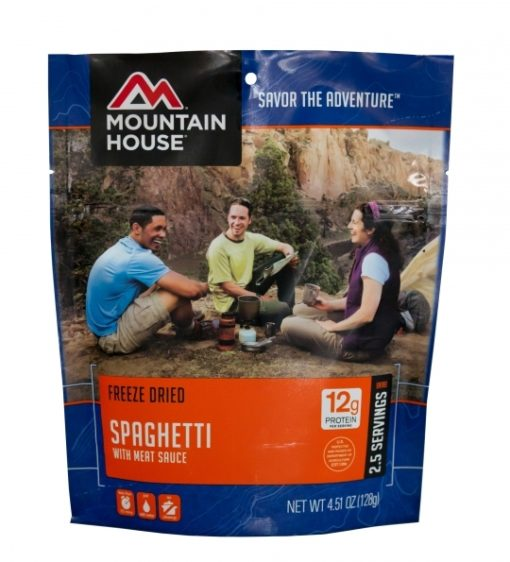 Backpacking Food - Mountain House Spaghetti with Meat Sauce for 2