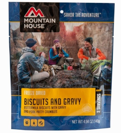 Backpacking Food - Mountain House Biscuits and Gravy Breakfast