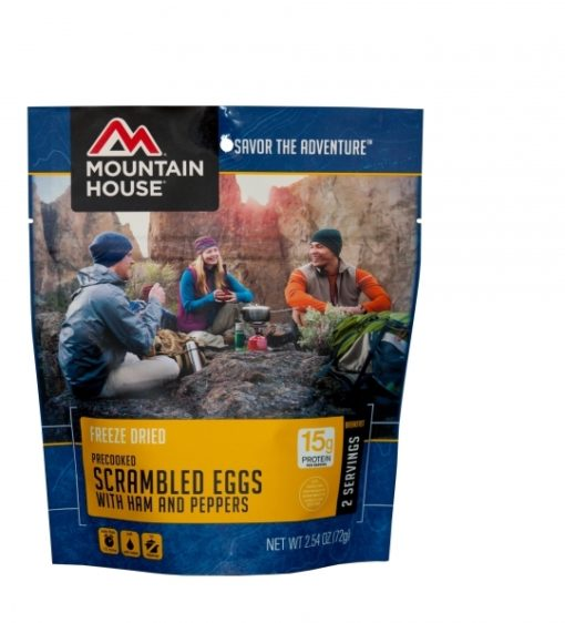 Backpacking Food - Mountain House Scrambled Eggs with Ham and Peppers