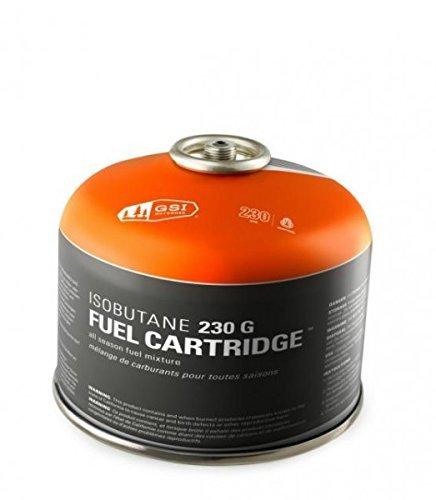 230 G IsoButane Fuel Cartridge for Backpacking Stoves