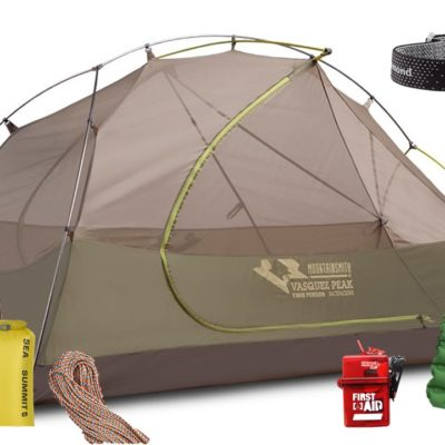 Backpacking kit rental