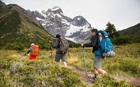 backpack rentals on hiking trip